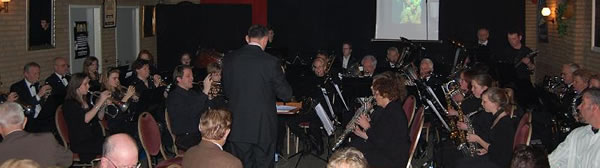 Het fanfareorkest bij het Brunchconcert 2008